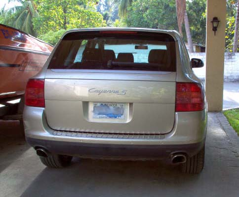 Norma's Cayenne S, back view